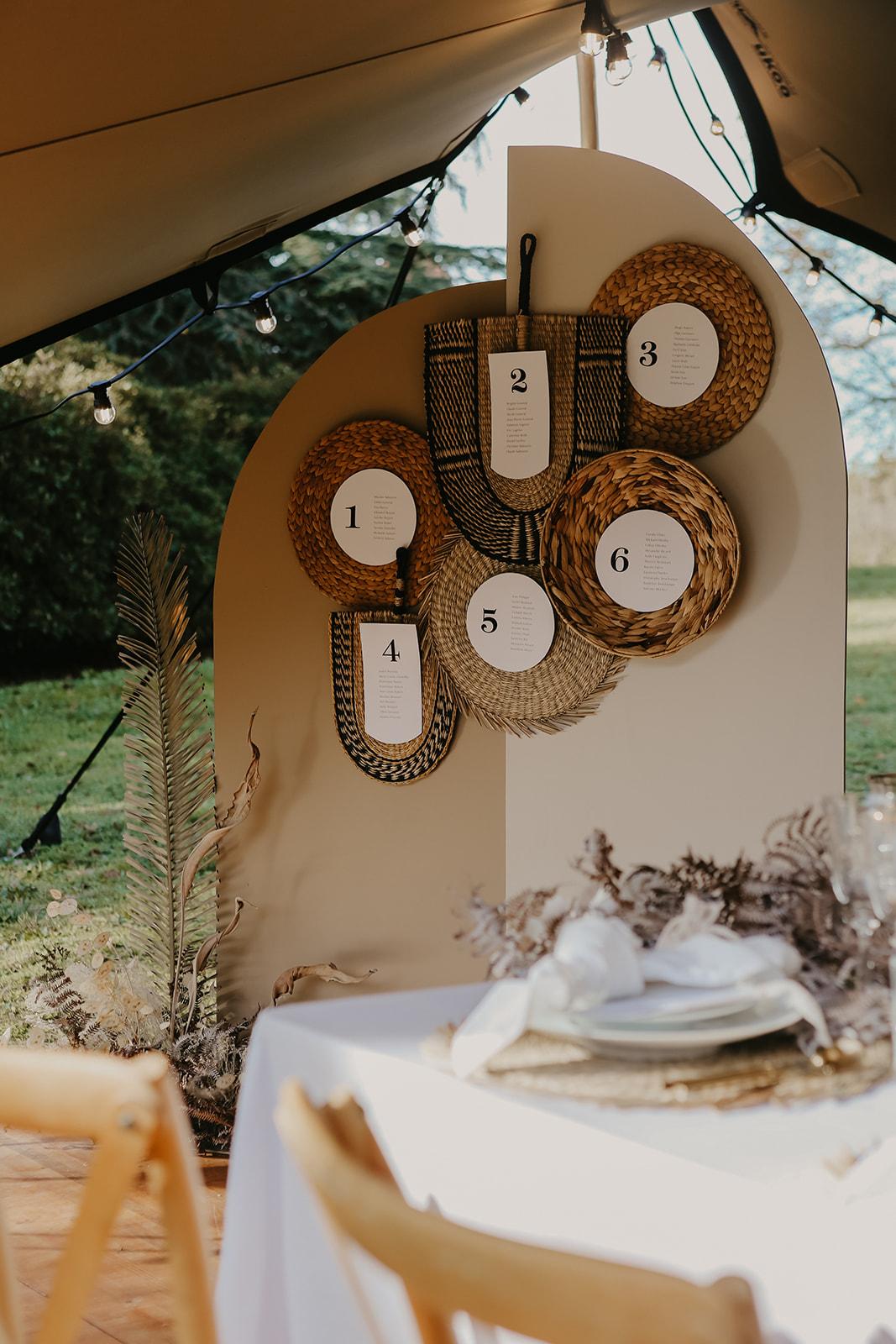location plan de table Tarn mariage